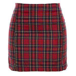 """Going Plaid"" Red Skirt"
