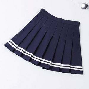 """Let''s go down to the Tennis Court"" Pleated Skirt"