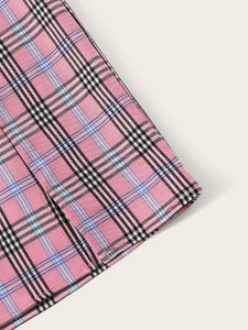 """Pink + Green"" Plaid Skirts"