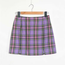 "Load image into Gallery viewer, ""Ultraviolet"" Plaid Skirt"