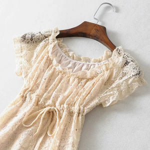 """Stay"" White Lace Dress"