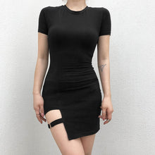 "Load image into Gallery viewer, ""Nikita"" Black Bodycon Dress"
