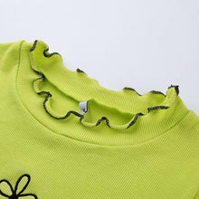 "Load image into Gallery viewer, ""I Dream in Green"" Crop Top - Lettuce Hem"