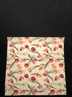 Tablecloth - Tulips - Cream colored