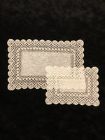 Antwerp bobbin lace - Rectangular - white - 34x26 cm