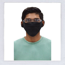 Load image into Gallery viewer, In Stock in USA warehouse. Black Fabric Single Ply Face Mask
