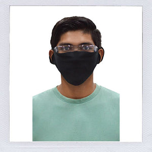 In Stock in USA warehouse. Black Fabric Single Ply Face Mask