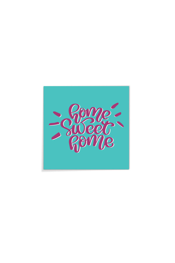 Placa Decorativa Home Sweet Home 20x20cm