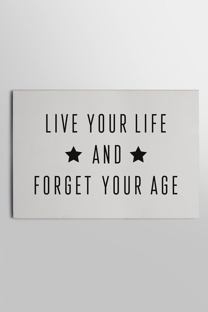 Placa Life Your Life... 20 x 29cm