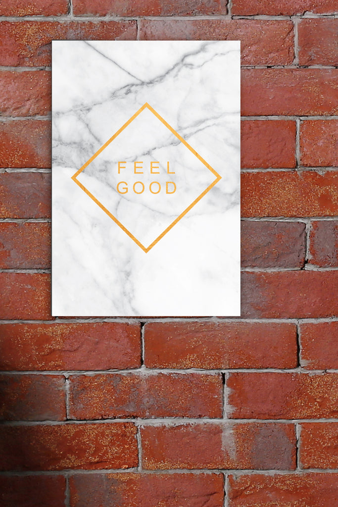 Placa Decorativa Feel Good 20x29cm