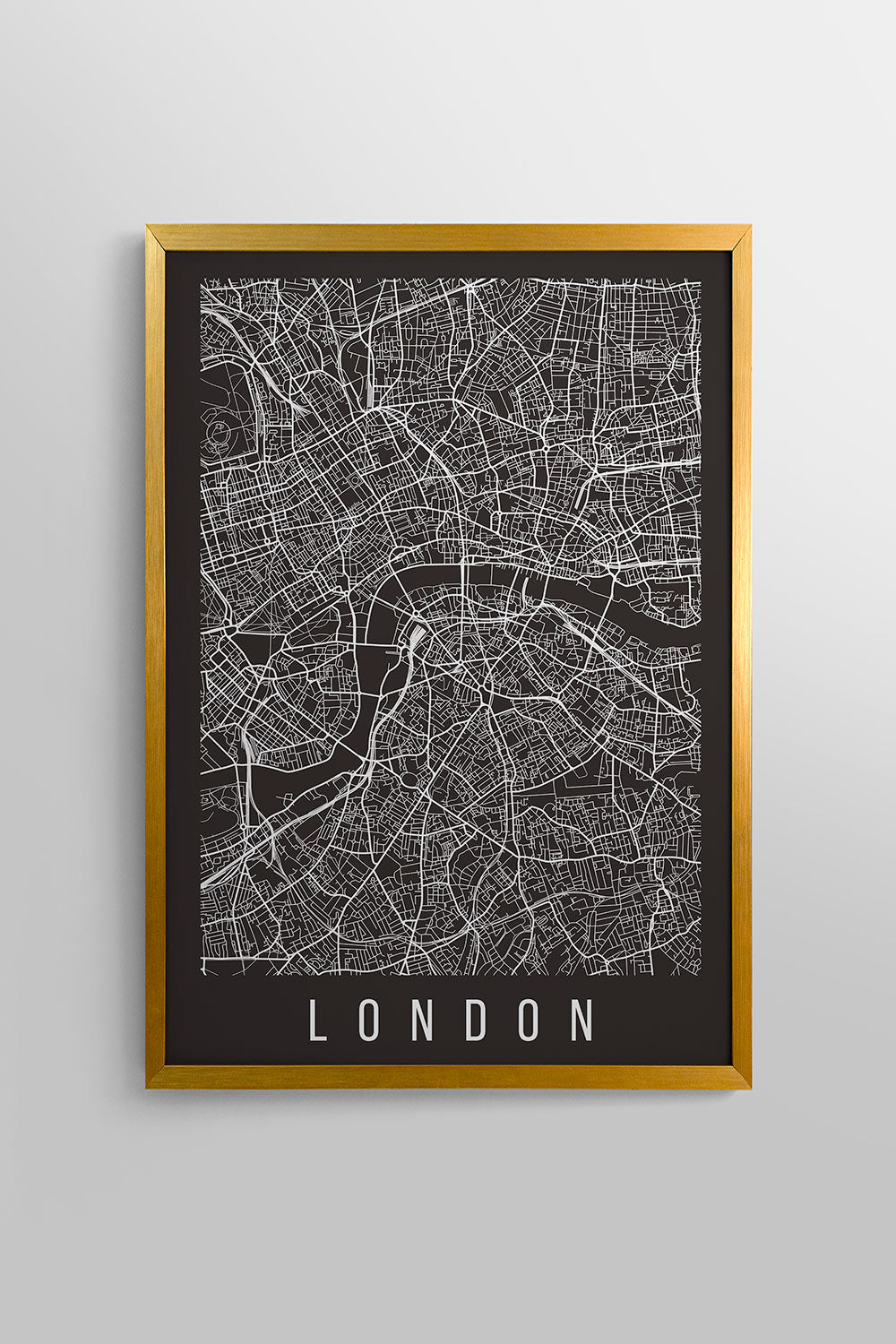 Quadro London Moldura Fit Gold 46x64cm