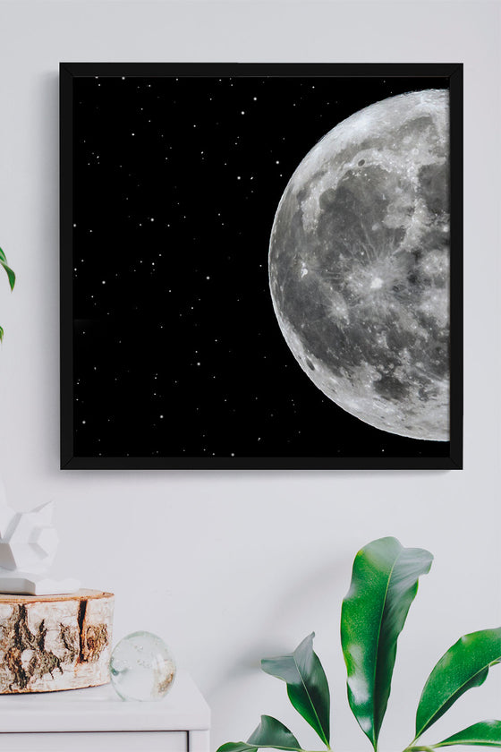 Quadro Lua Moldura Fit Black 43x43cm