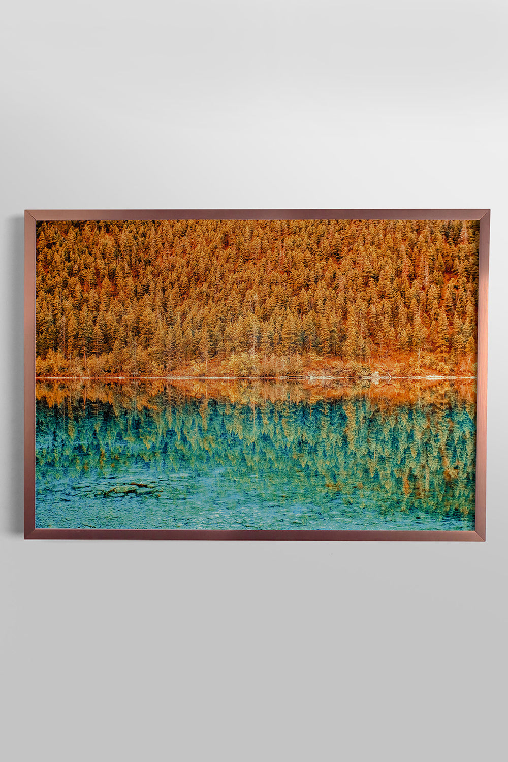 Quadro Copper and Teal 46cm x 64cm