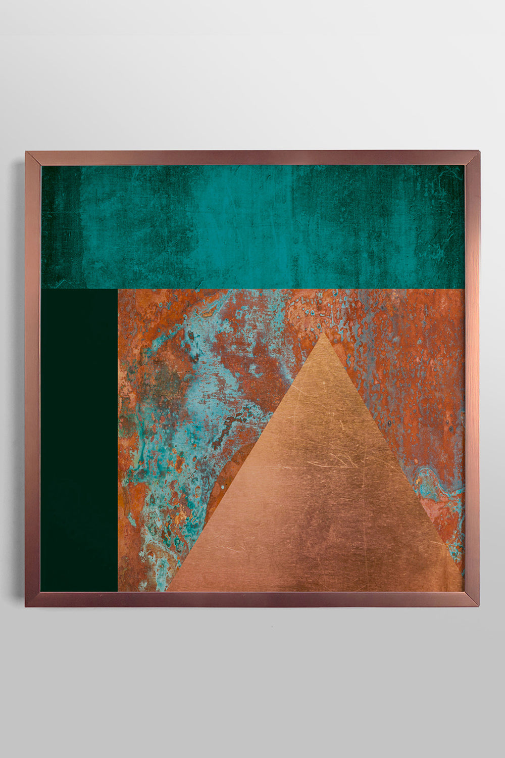 Quadro Copper and Teal Fit Rose 43x43cm