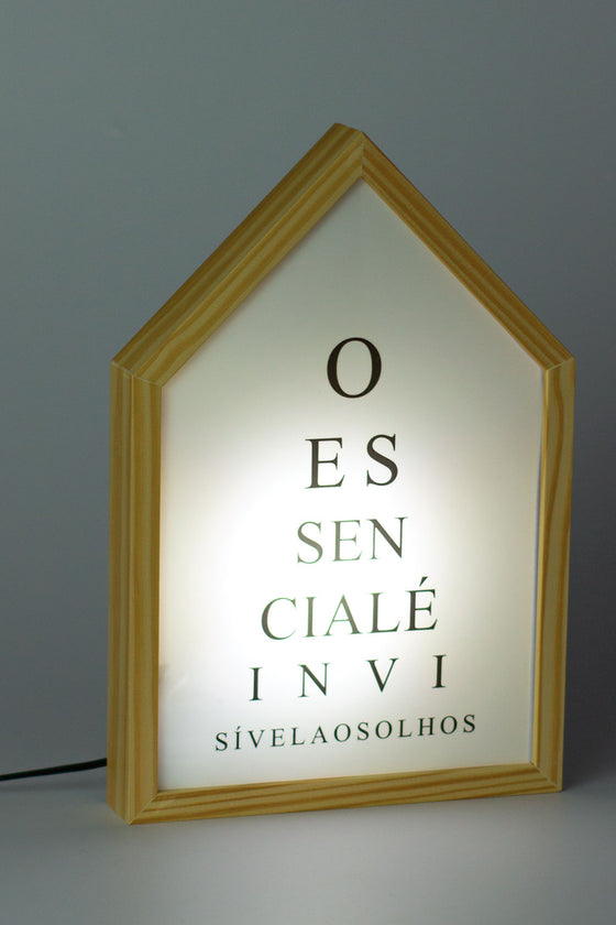 Quadro Luminebox Formato Casa O Essencialé