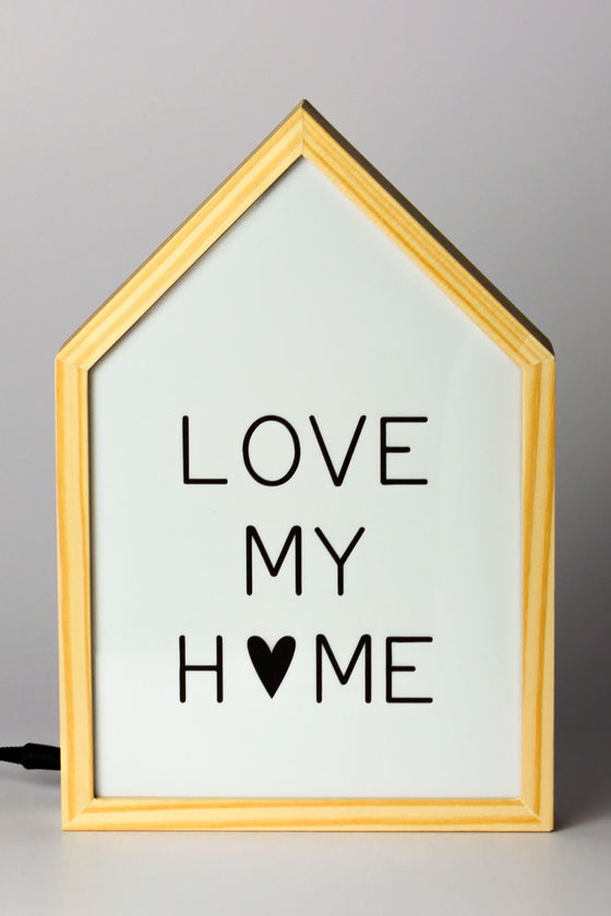 Quadro Luminebox Formato Casa Love My Home