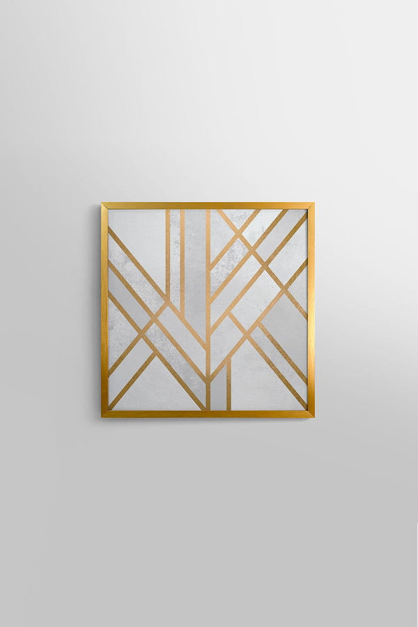 2 Quadros Geometric Gold Fit Gold