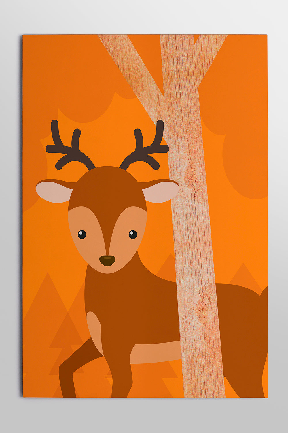 Quadro Placa Deer 30x44cm Woodland