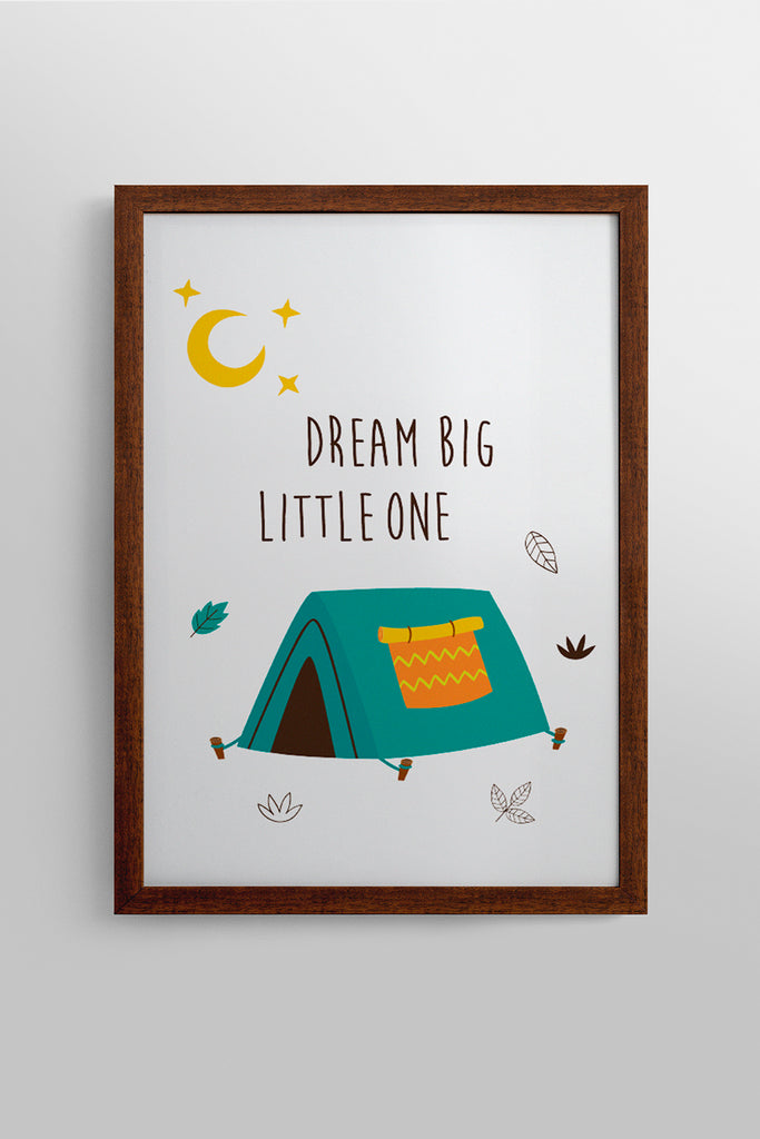Quadro Big Dream Moldura Retro 23cm x 32cm Woodland