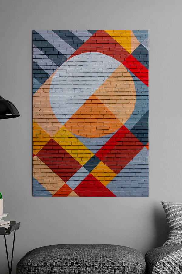 Quadro Placa Geometric Wall 60cm x 89cm