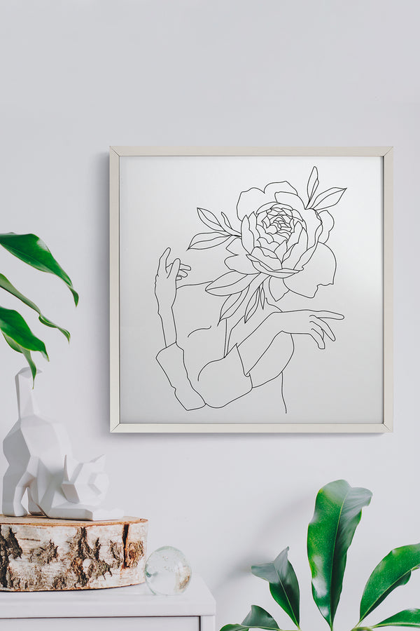 Quadro Illustrated Flower 43cm x 43cm