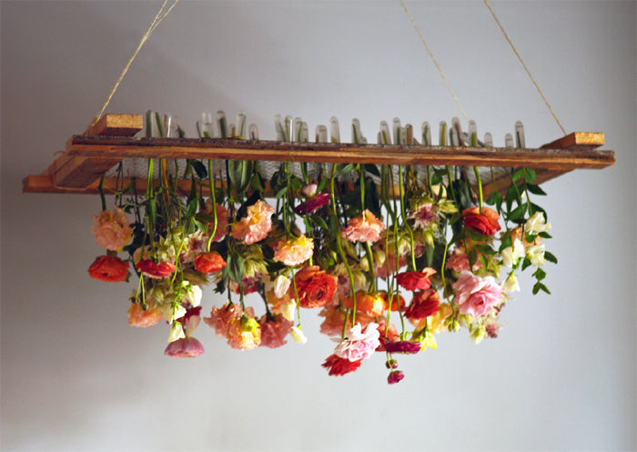 Diy hanging floral chandelier tin can studios after an intense week in sweden promoting my book and showing how to make flower arrangements on tv4 while wearing waaaaay too much make up haha aloadofball Choice Image