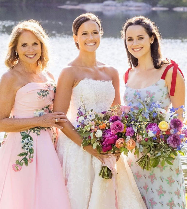 Katie Couric with her daughters
