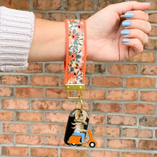 Load image into Gallery viewer, Rosa Floral Key Fob in Coral
