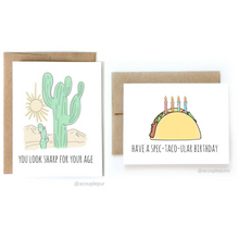 Load image into Gallery viewer, Set of 2 Birthday Cards