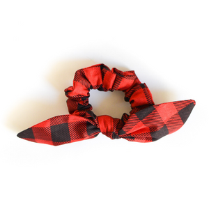 Buffalo Plaid Bow Scrunchie