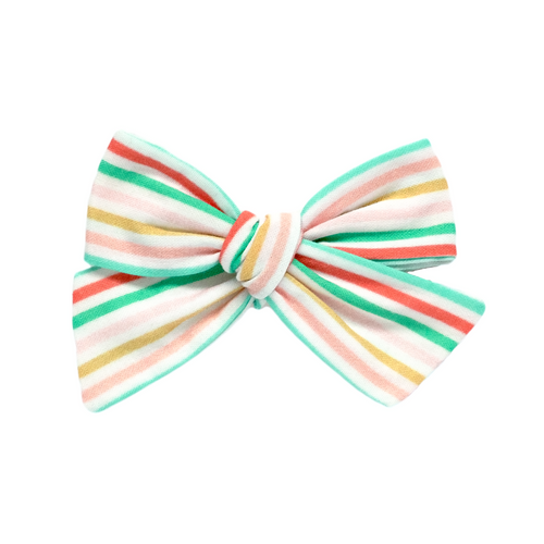 Candy Stripe Hair Bow