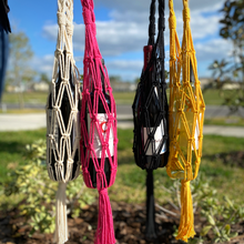 Load image into Gallery viewer, Macrame Wine Tote