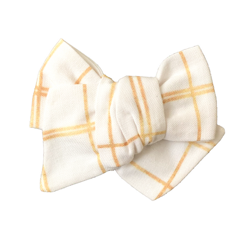 Golden Tartan Hair Bow