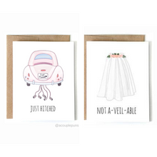 Load image into Gallery viewer, Set of 2 Wedding Cards
