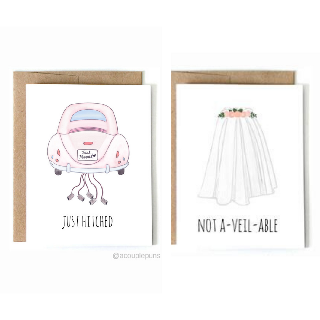 Set of 2 Wedding Cards
