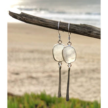 Load image into Gallery viewer, Organic Free Form Moonstone Bezel Dangle Earrings