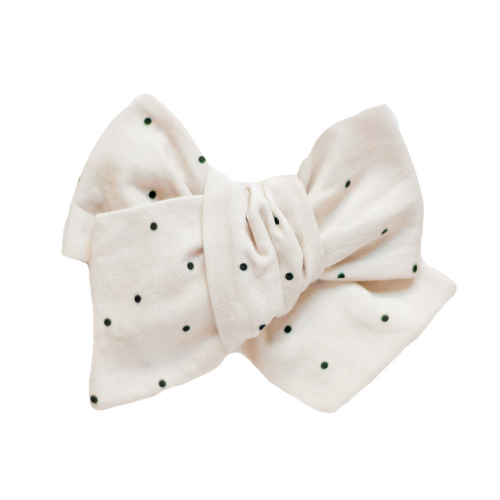 Pearl Dot Hair Bow
