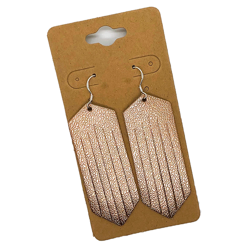 Rose Gold Fringe Earrings