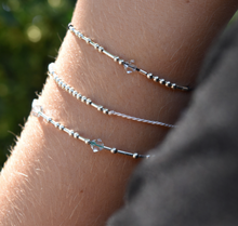 Load image into Gallery viewer, 'One Day at a Time' Morse Code Mantra Bracelet
