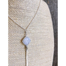 Load image into Gallery viewer, Sterling Silver Necklace with Cushion Gemstone