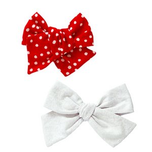 Snow Flurries Hair Bow Set