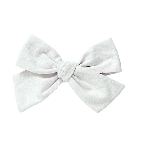 Whimsical White Hair Bow
