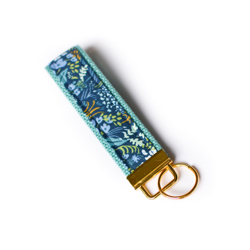 Tapestry Key Fob in Teal