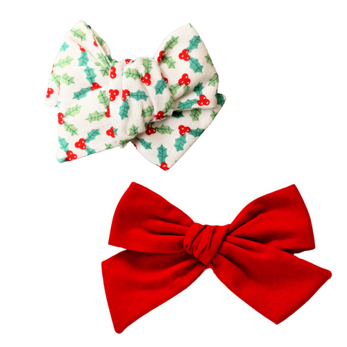 Winter Wonderland Hair Bow Set