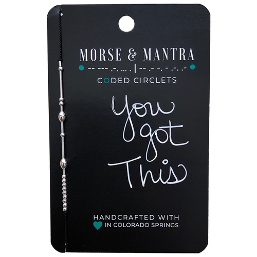 'You Got This' Morse Code Mantra Bracelet