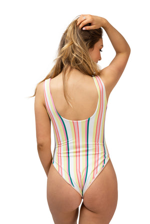 Retro Stripe One Piece Swimsuit
