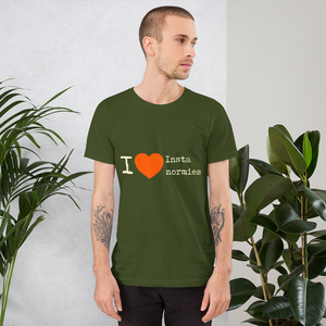 I Love Insta Normies - Short-Sleeve Unisex T-Shirt