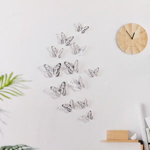 12 Pcs/Set Butterfly 3D Wall Stickers