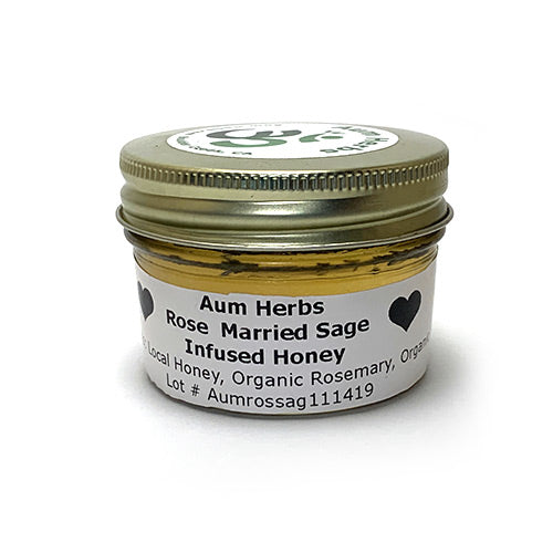Rose Married Sage Infused Honey