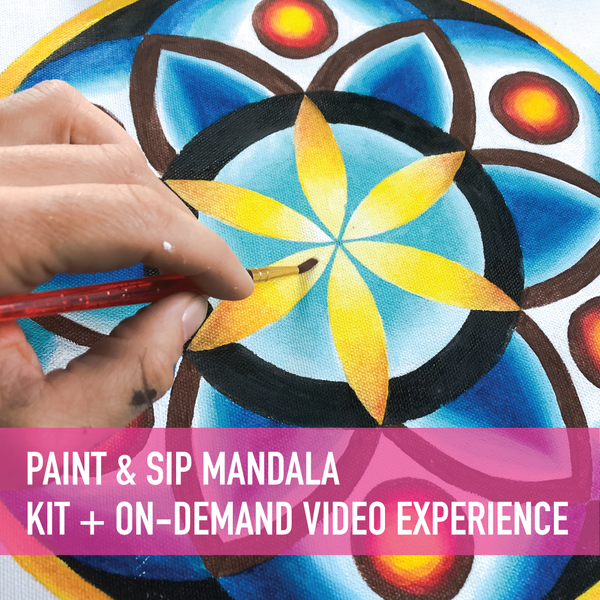 Paint & Sip at Home Mandala with Gabrielle Abbott + On-Demand Video
